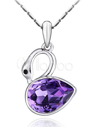 ����� ����� ����� ������� ����� Attactive-Purple-Swan-Swarovski-Crystal-Alloy-Necklace-For-Ladies-65307-1.jpg
