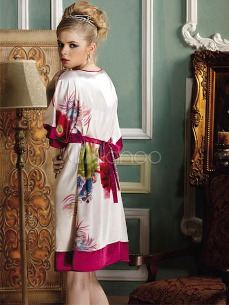 elegant lumineux de couleur crevettes spinning robe courte chambre manches pour femme. Black Bedroom Furniture Sets. Home Design Ideas