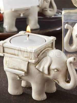 Lucky Little Elephant 8.5*6*6.5cm Resin Candles