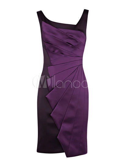 Modern Western Purple Sleeveless Acetate Fiber Polyester Womens ...