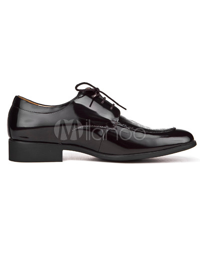 Mens Dress Shoes Style on Up Pointed Toe Cowhide And Pigskin Mens Dress Shoes   Milanoo Com