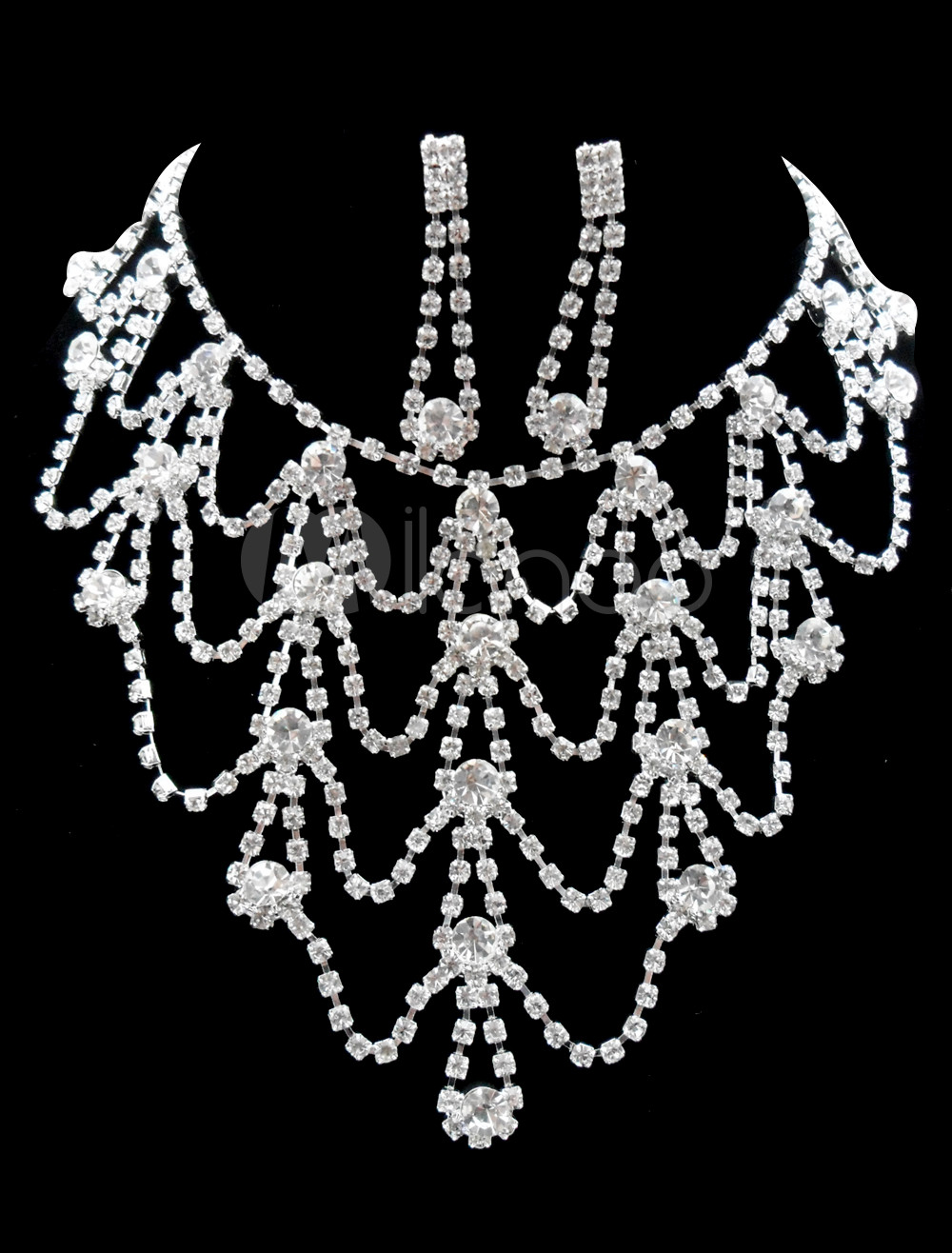 Superior Alloy Rhinestone Wedding Jewelry Set For Brides 74791 1 Naked asian teen boy being naked asian vagina