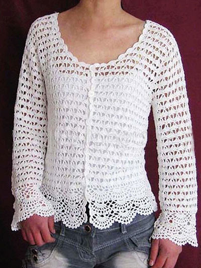 Beginner Crochet Sweater Patterns Free : Crochet Patterns Free For Beginners Sweaters images
