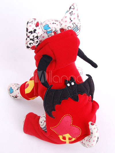 Red Demon Batman Spring Summer Dog Costume
