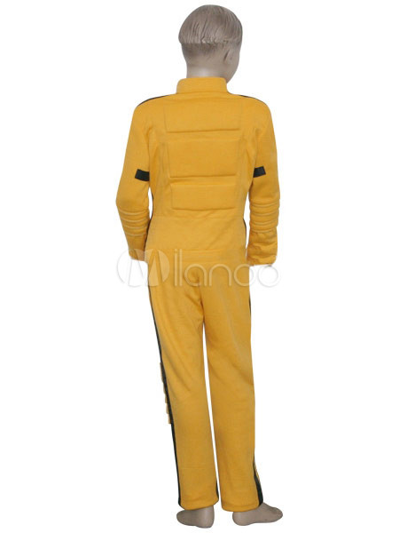 jaune et noir en tissu uniforme kill bill le cosplay costume mari e kids. Black Bedroom Furniture Sets. Home Design Ideas