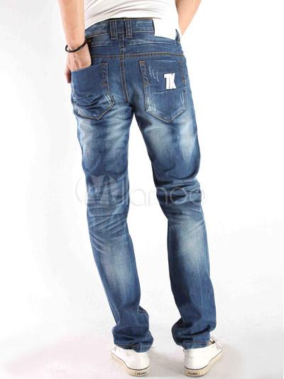 Fashion Blue 98 Cotton 2 Fiber Mens Jeans