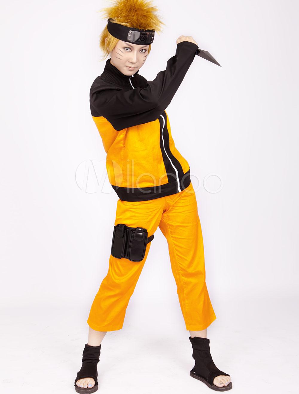 Halloween Anime Costumes adults fullset deadpool cosplay costume Anime Naruto Shippuden Uzumaki Naruto Halloween Cosplay Costume Milanoocom