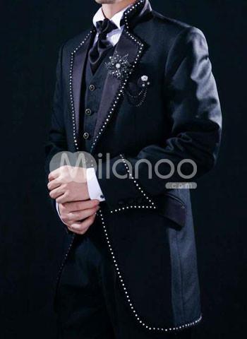 Beaded Side Pockets Men 39s Wedding Suit Milanoocom