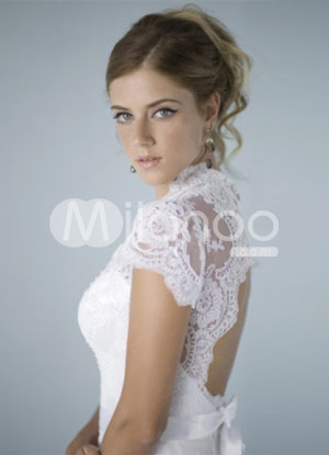 Cesley\'s blog: lace short sleeves wedding dresses Double click on ...