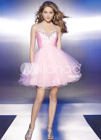 ...Холтер органзы коктейль платья 2012 от Candiny Интернет-магазин.