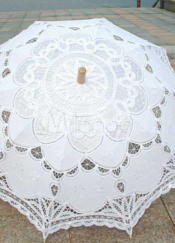 White Lace Wedding Umbrella $15.63 AT vintagedancer.com