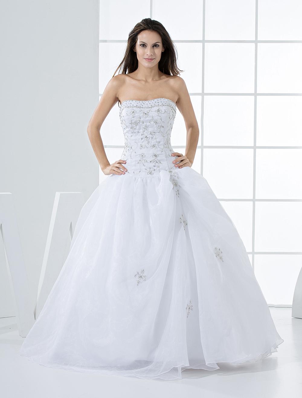 Elegant Ball Gown White Quinceanera Dress (Wedding Quinceanera Dresses) photo