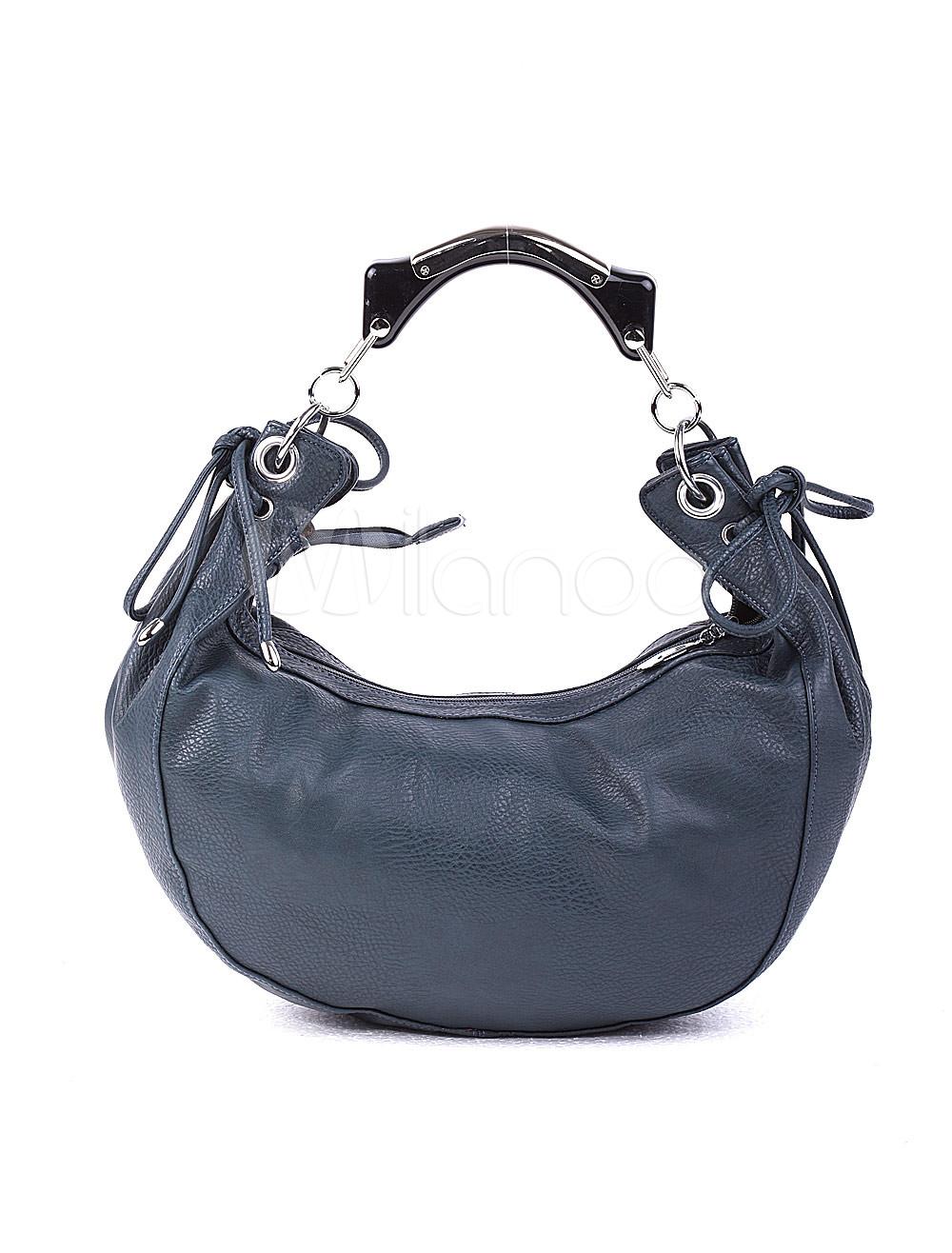 Fashion Blue PU Womens Handbag