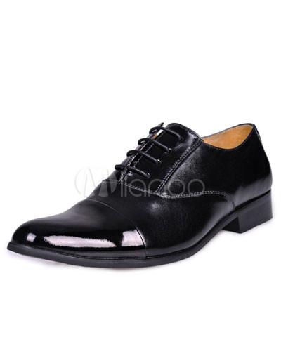 Boys Dress Boots on Zapatos De Vestir Formales Vaca Negra Suela Pu Masculino   Milanoo