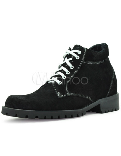 Elevator Shoes   on Monograma Ascensor Zapatos Suede Lace Up Masculino   Milanoo Com