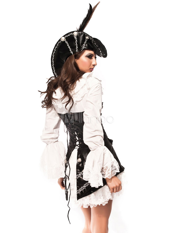 Cool PU Lace Women's Sexy Adult Pirate Costume - Milanoo.com