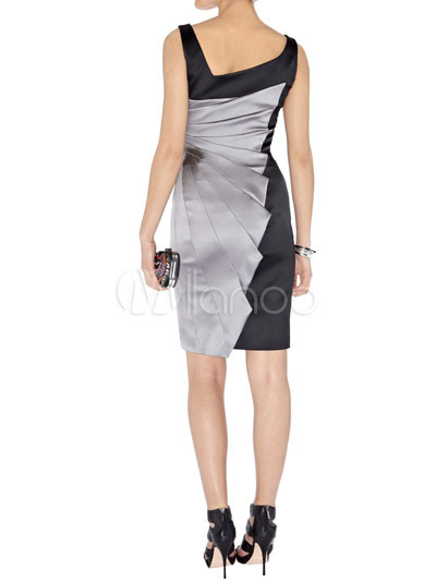 Modern Western Gray Sleeveless Acetate Fiber Polyester Womens ...