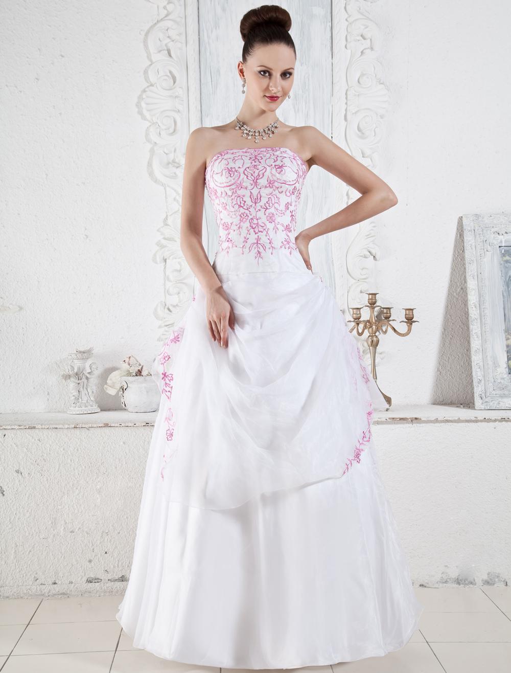 Brautkleider Rosa und weiße