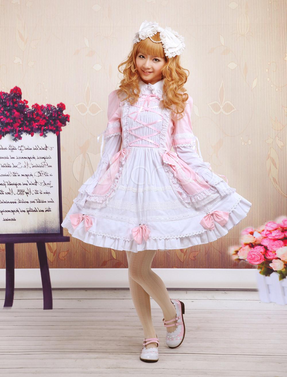 Turndown Collar Lolita Dress Milanoo Com