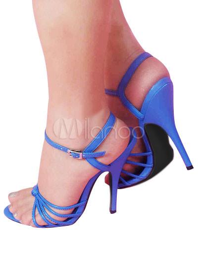 Sandalias azules de tacón de aguja de estilo sexy,No.2