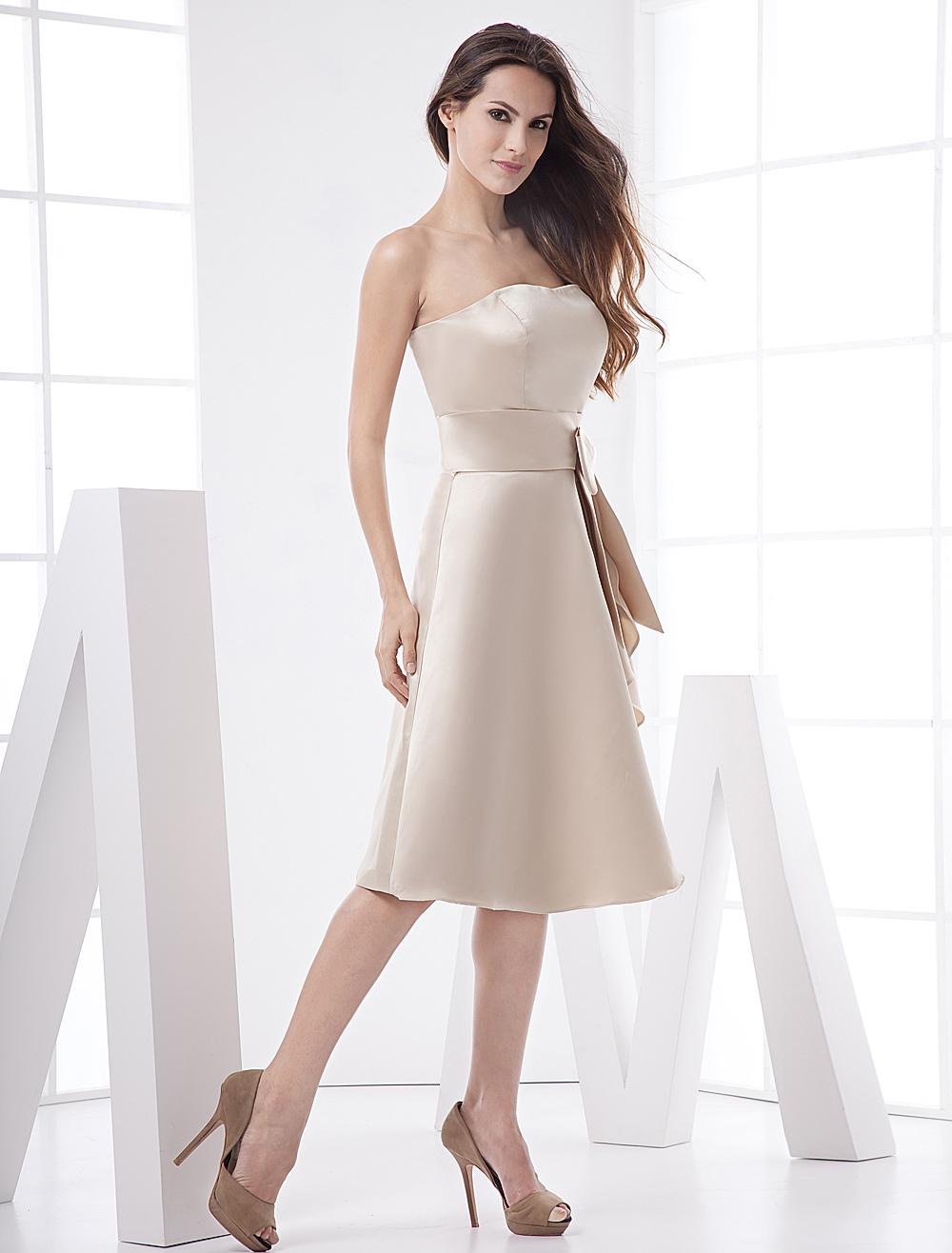 Strapless dress prom