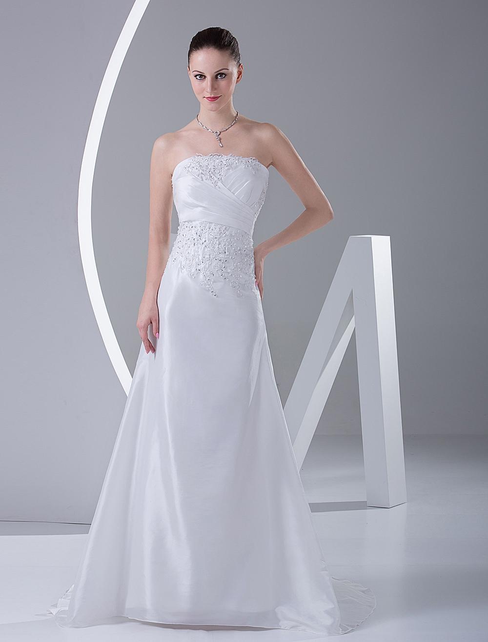 Elegant Mermaid Trumpet Satin Wedding Dress