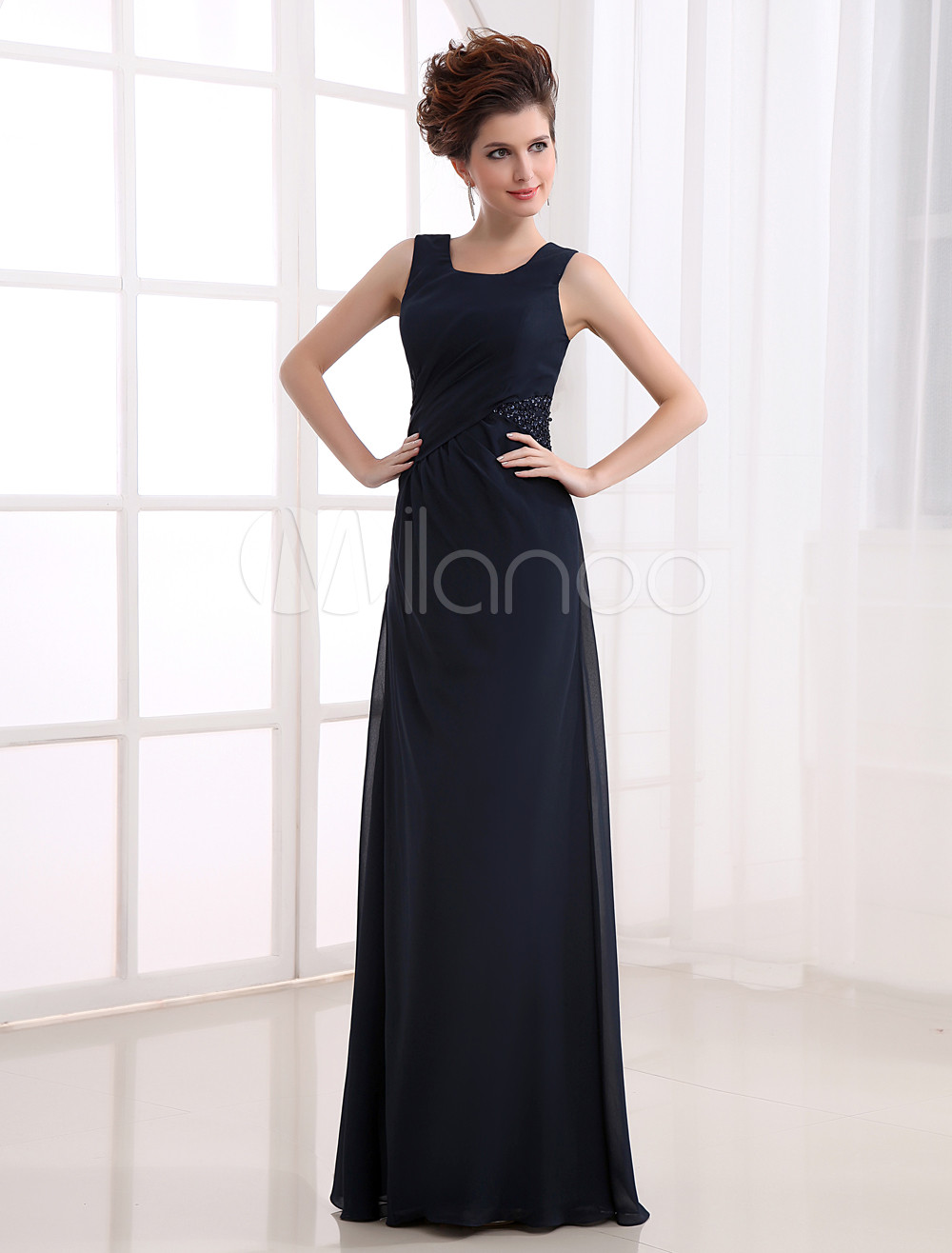 Elegant Deep Navy Blue Spinning Prom Dress (Wedding Evening Dresses) photo