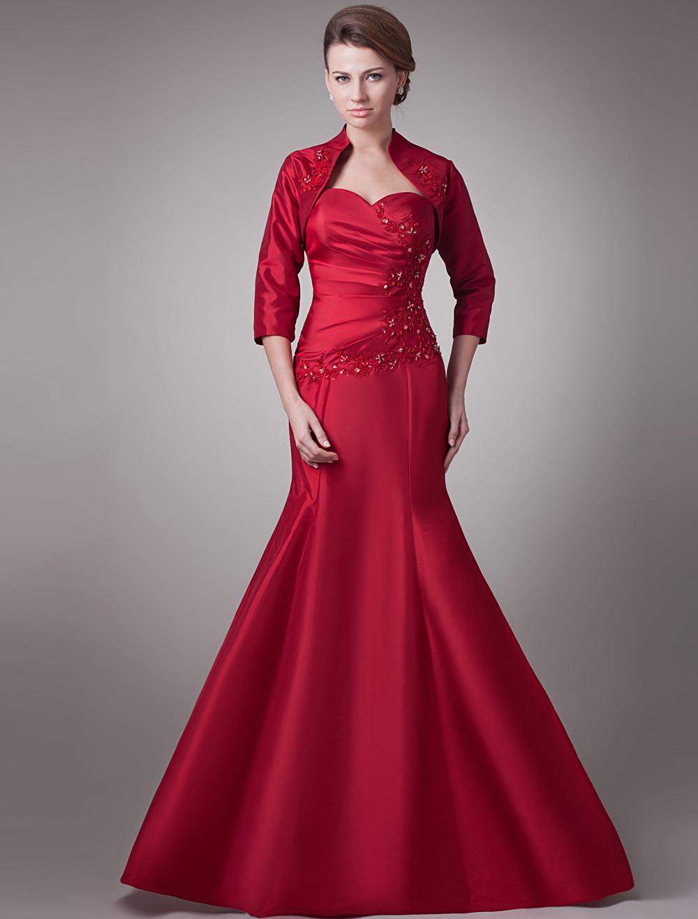 Sequin Taffeta Mother of the Bride Dress