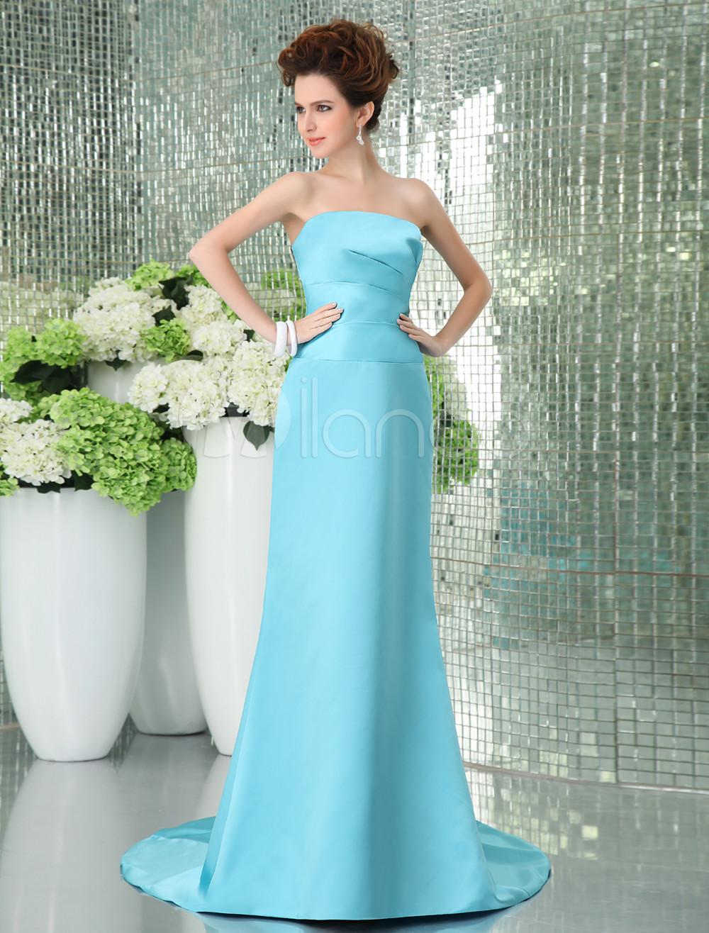 Charming Strapless Satin Bridesmaid Dress