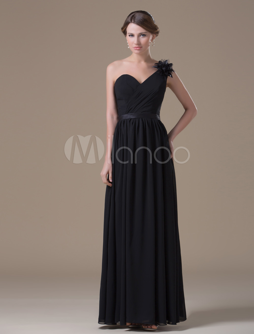 Chiffon One Shoulder Maternity Bridesmaid Dress