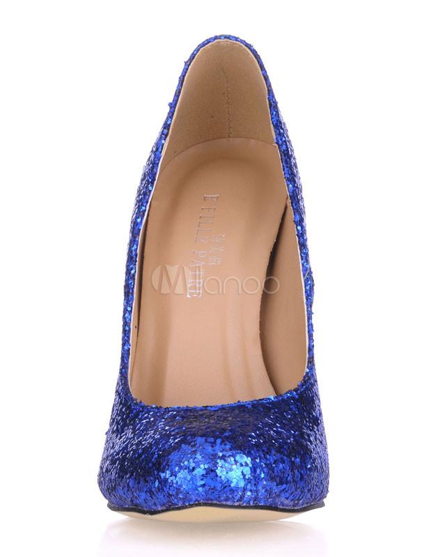Blue Pointed Toe Dress Pumps - Milanoo.com