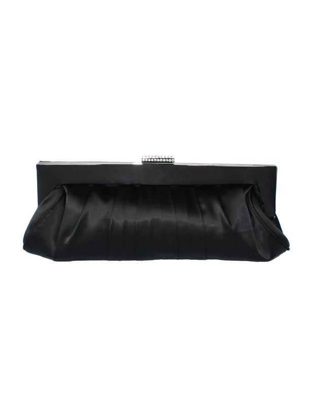 Satchel Shape Quilted Pleated Silk Woman's Evening Bag