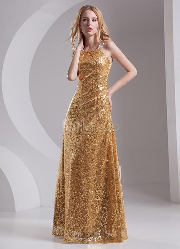 Resultado de imagen para vestidos de fiesta dorado