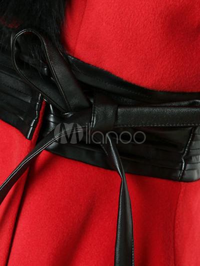 Мех воротник женские пальто milanoo com