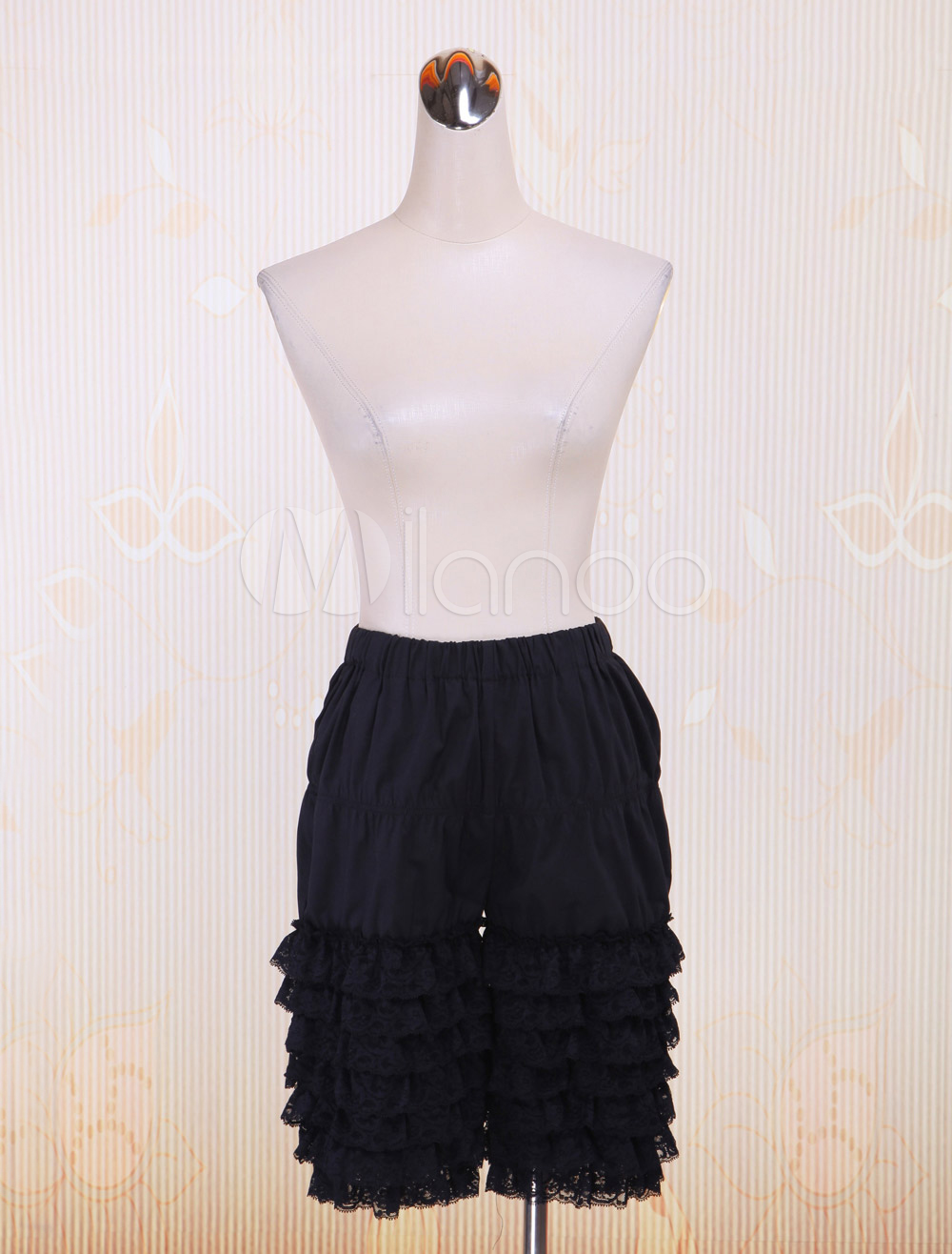 Attractive Black Poplin Womens Lolita Bloomers $26.99 AT vintagedancer.com
