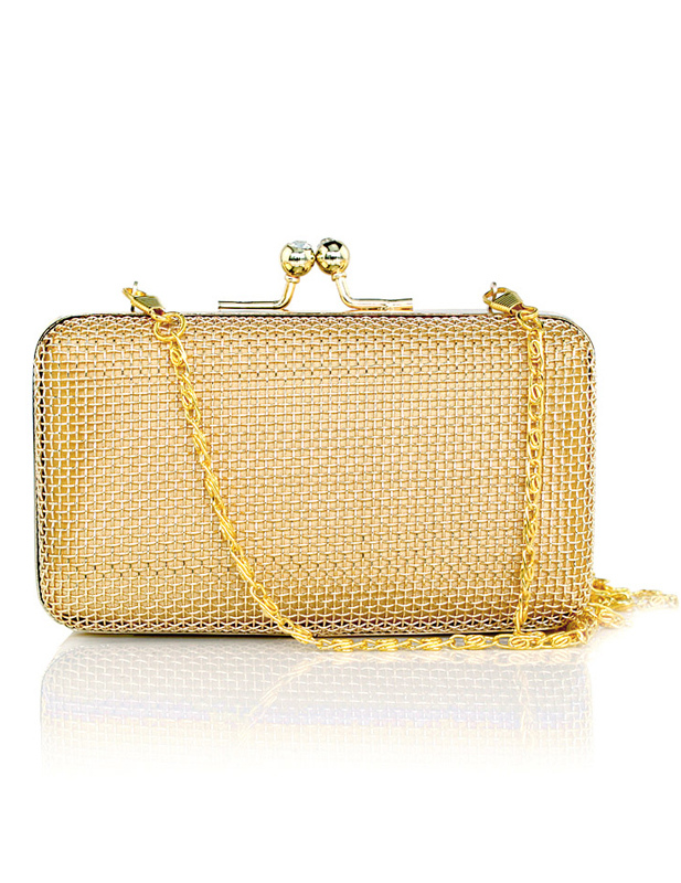 Gold Metal Chain Bridal Wedding Handbag