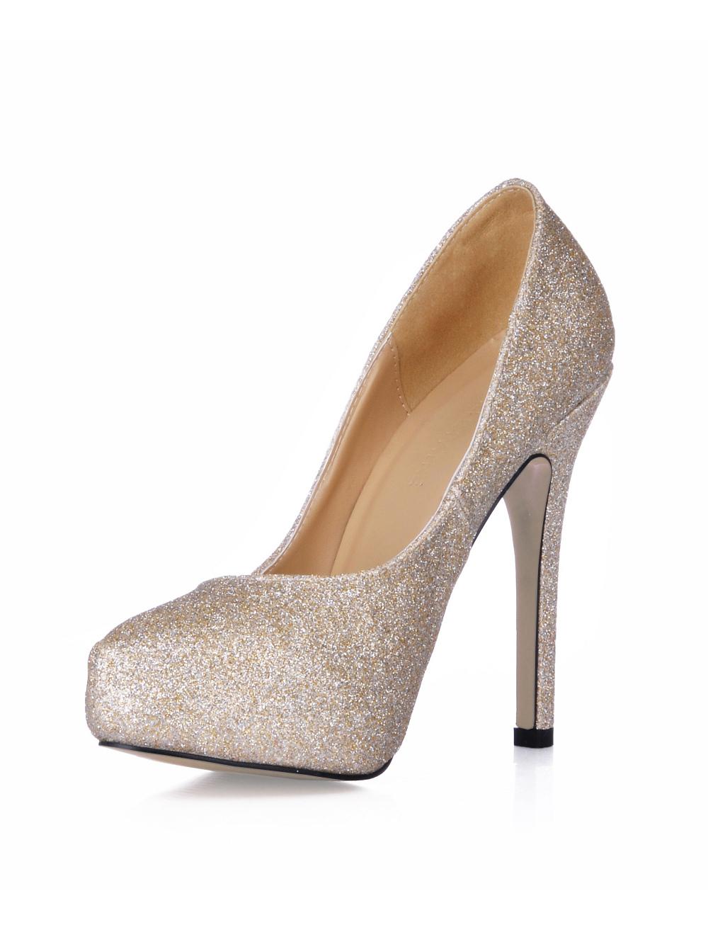 sch ne damen pumps mit pailletten und high heels. Black Bedroom Furniture Sets. Home Design Ideas