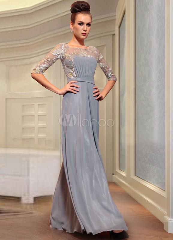 Жемчужно серое платье