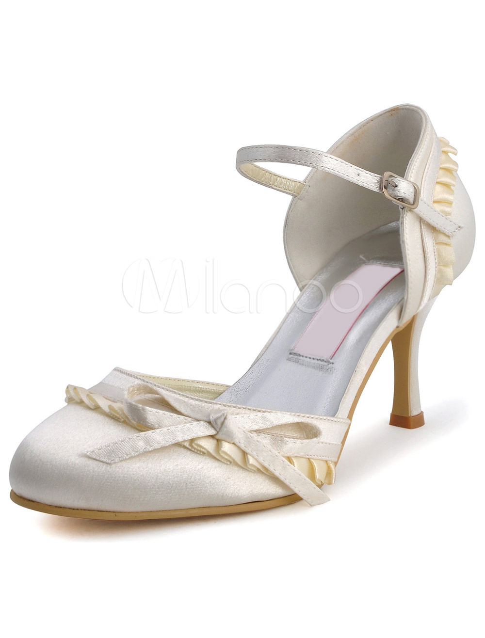 Shop eBay for great deals on Beige Bridal Shoes. You'll find new or used products in Beige Bridal Shoes on eBay. Free shipping on selected items. Skip to main content. eBay: Sleek beige/ nude satin upper with floral accent at vamp. Leather lining. Lightly cushioned leather sole. Wrapped heel. Heel is .