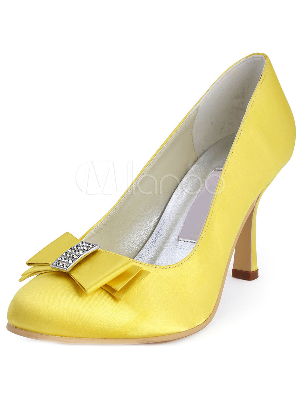 Yellow Satin Heels
