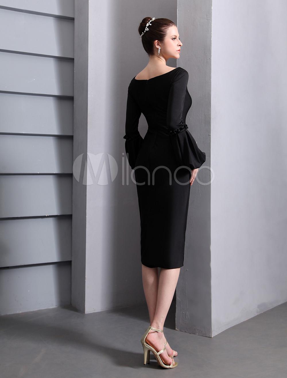 Chic-Black-Scoop-Neck-Sheath-Chiffon-Cannes-Film-Festival-Dress-308208