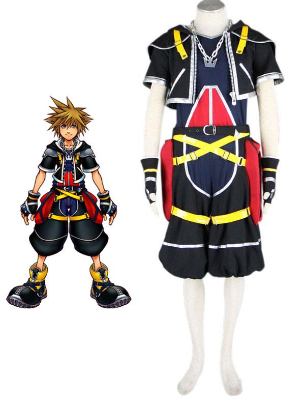 Kingdom Hearts cosplay Sora cape Dress costume Female custom made、、