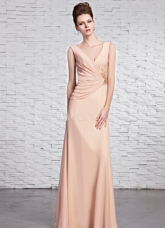 Vestidos de fiesta largos color marfil