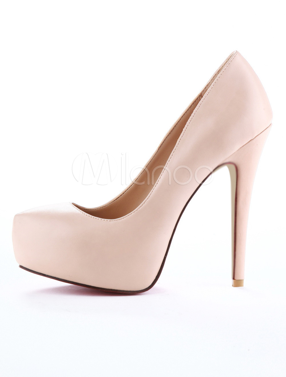 Platform Sexy High Heels Women&39s Almond Toe Nude Pumps 5.5 INCH