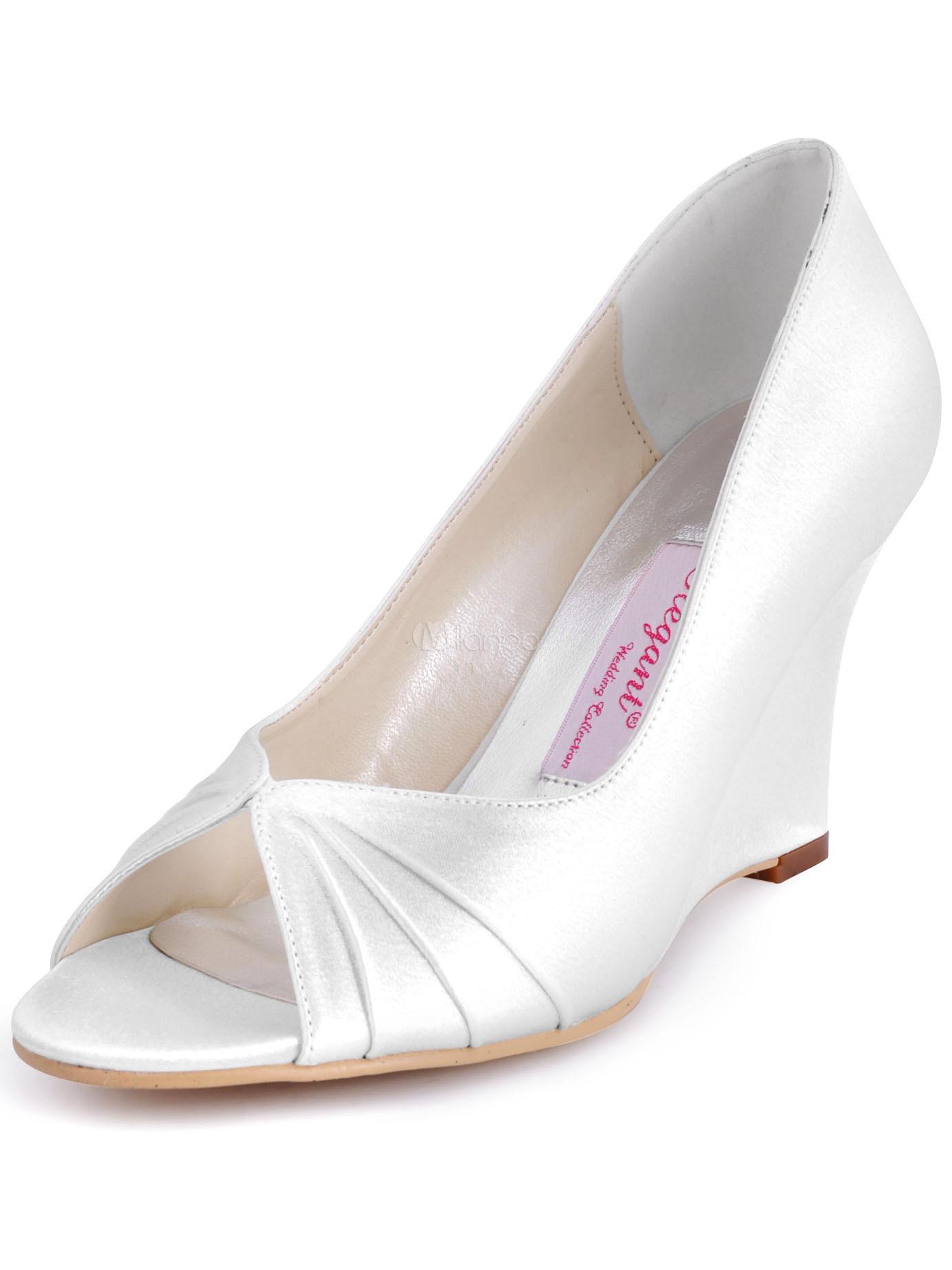 bleu chaussures talons compenss pour mariage no2 - Chaussure Compense Mariage