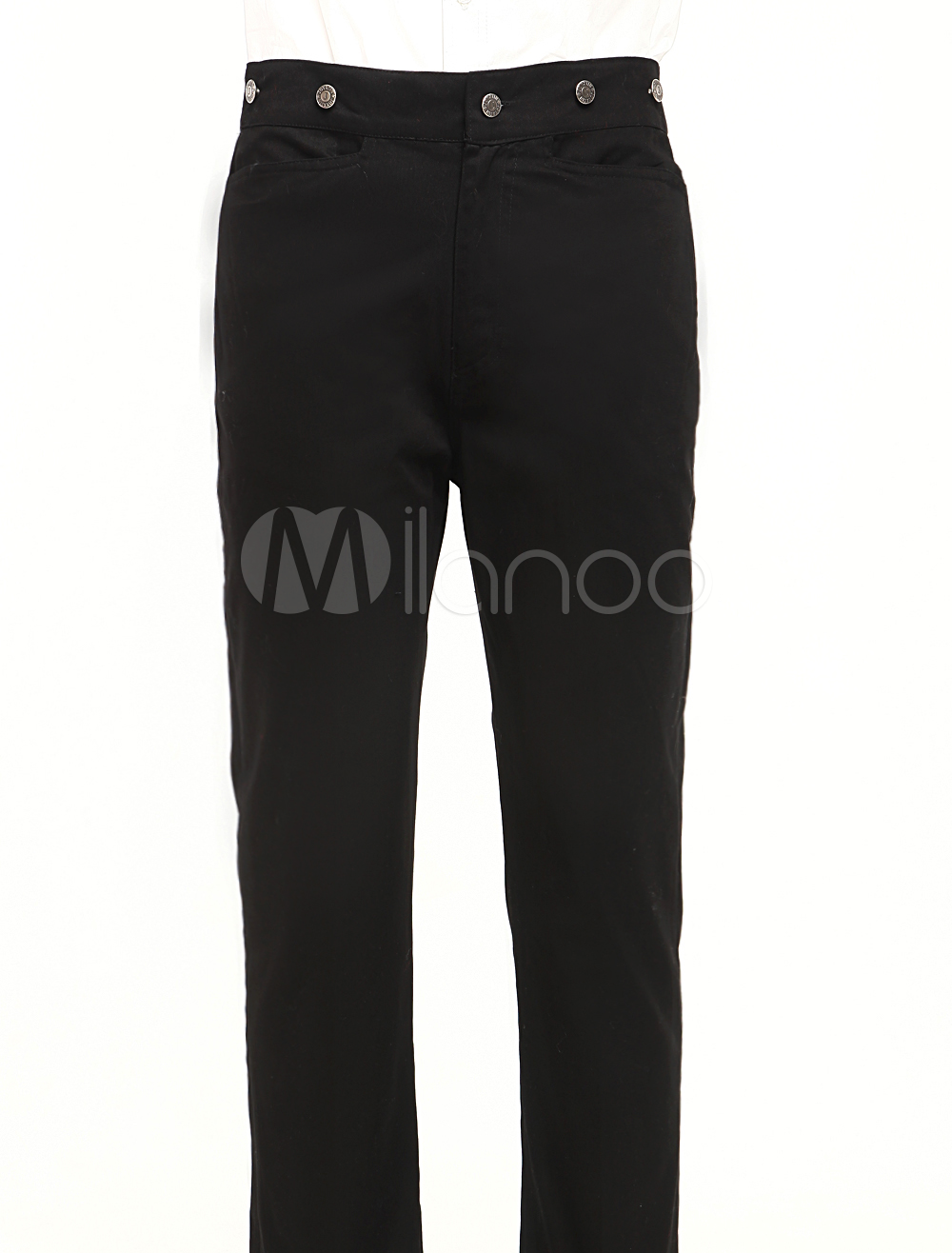 Classic Black Cotton Mens Steampunk Trousers $49.99 AT vintagedancer.com