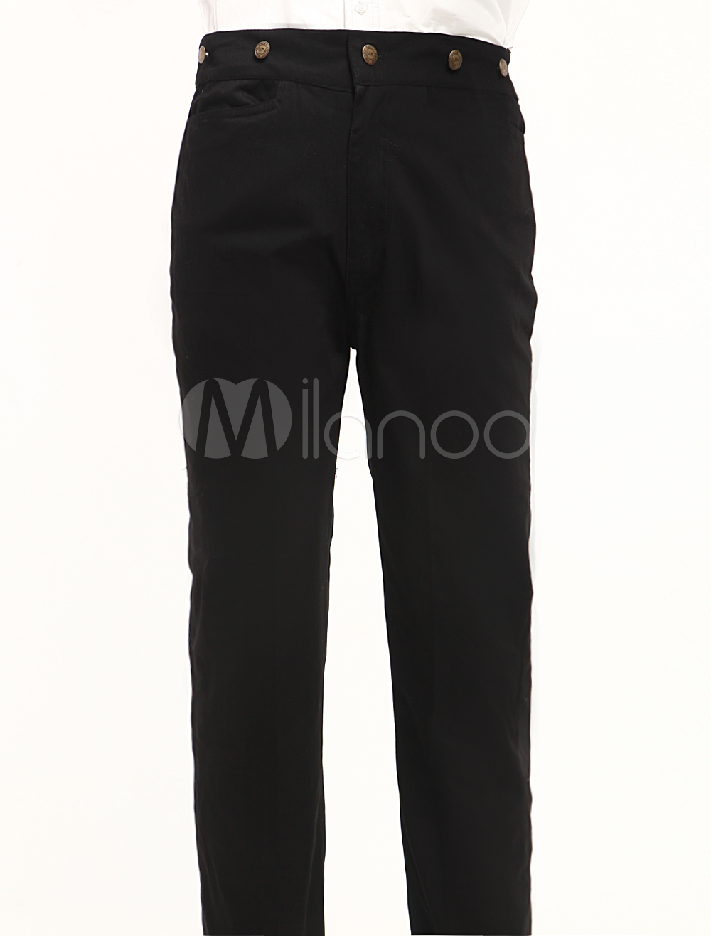 Cool Black Cotton Mens Steampunk Trousers $49.99 AT vintagedancer.com