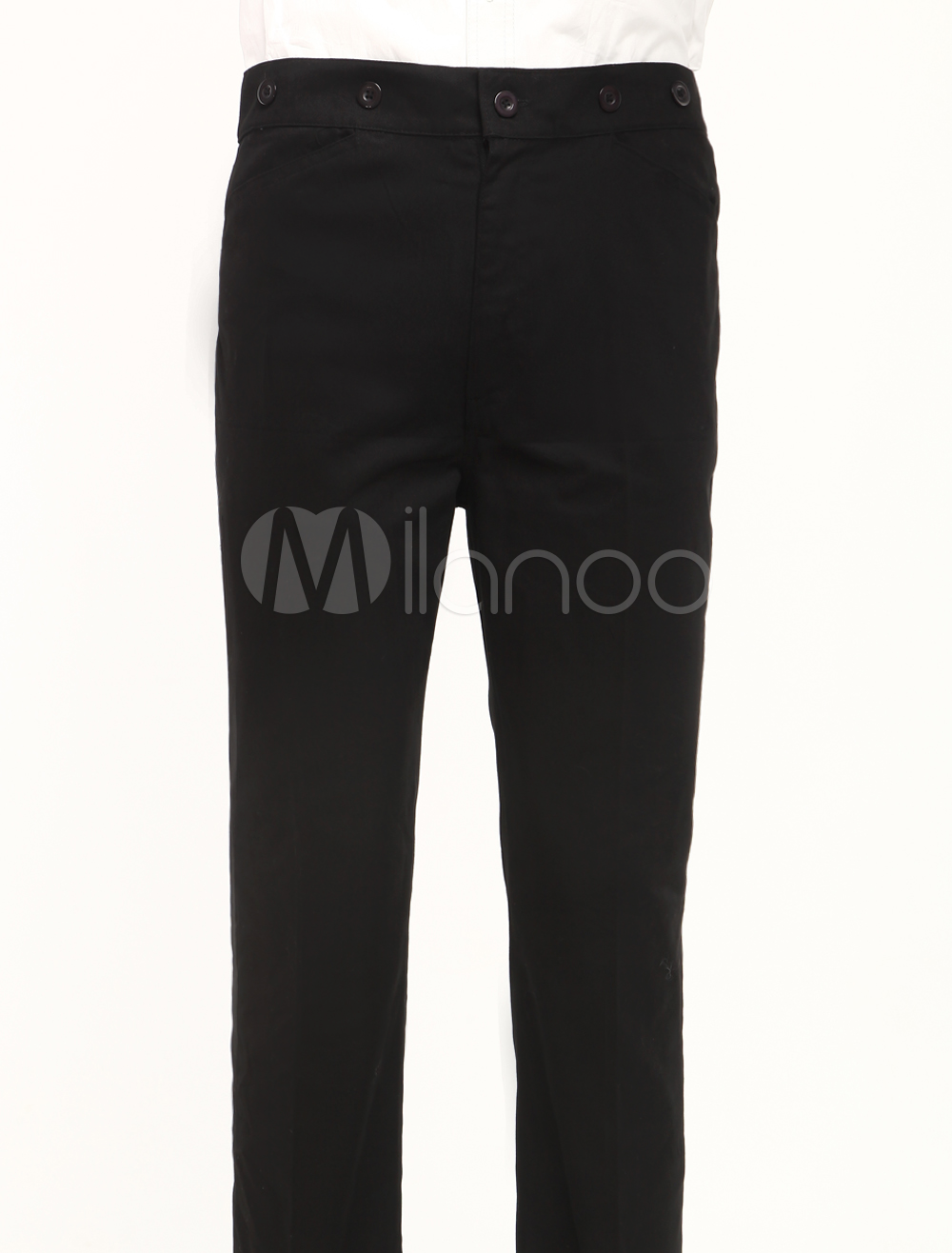 Fabulous Black Cotton Mens Steampunk Trousers $49.99 AT vintagedancer.com