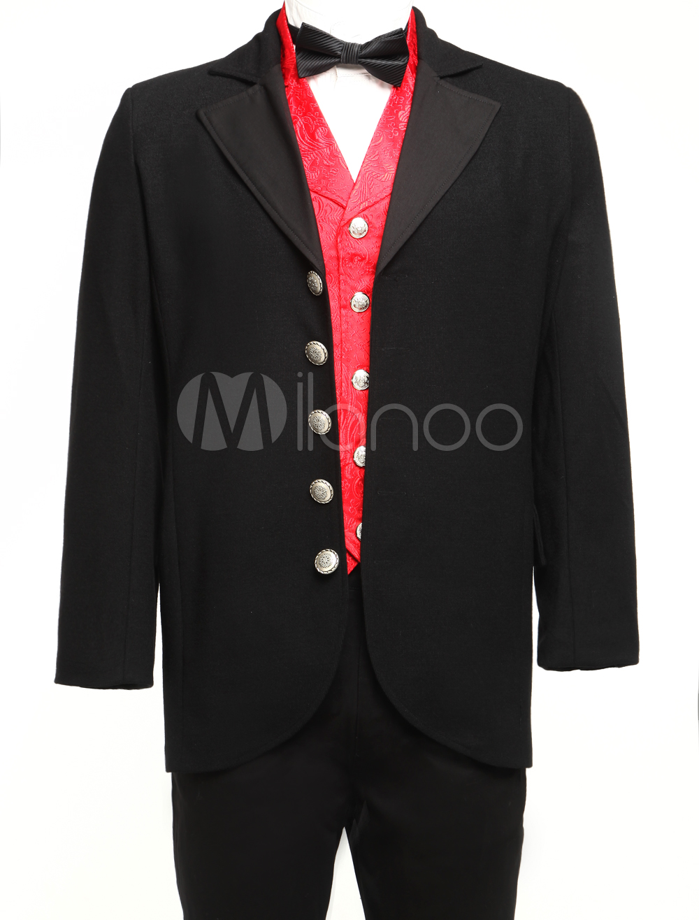 Fabulous Black Lapel Buttons Jazz Cloth Velvet Trim Mens Full Length Steampunk Coat $74.99 AT vintagedancer.com
