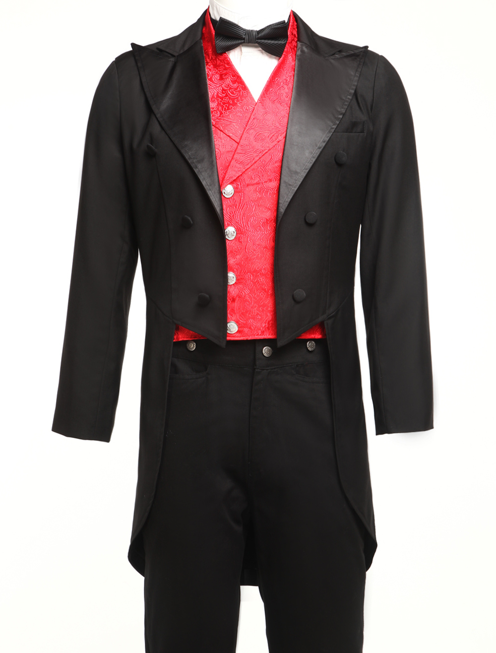 Formal Black Jazz Cloth Double-breasted Mens Tailcoat $74.99 AT vintagedancer.com